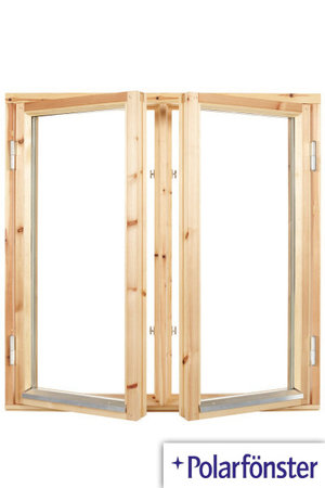Polarfönster 2-luft 2-glas Obehandlat