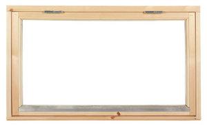 Polarfönster Överkantshängt 2-glas Obehandlat