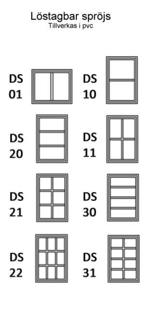 Sidohängt 2-luft Trä 3-glas