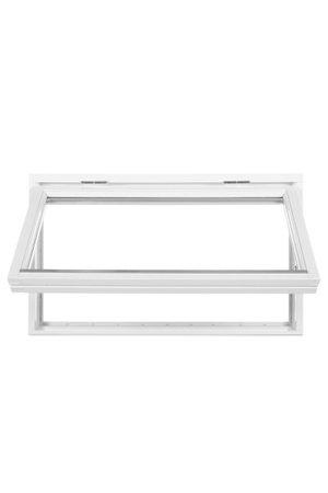 Polarfönster Överkantshängt 2-glas Vit 90x60 cm