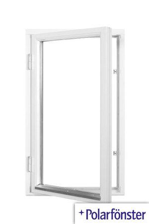 Polarfönster 1-luft 2-glas Vit