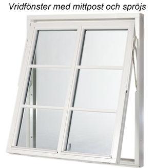 Polarfönster Vridfönster 3-glas Alu