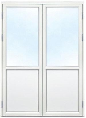 Polarfönster Altandörr Pardörr 3-glas Alu