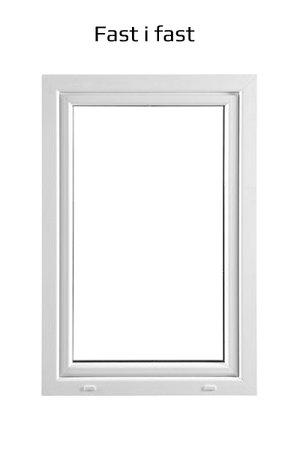 PVC fönster Fast 2-glas