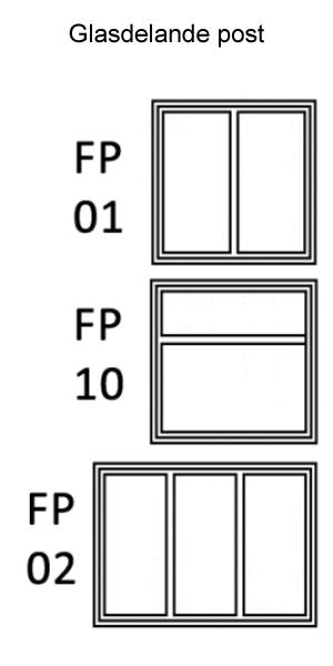 Sidohängt 1-luft Trä 3-glas