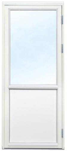 Polarfönster Altandörr 3-glas Vit